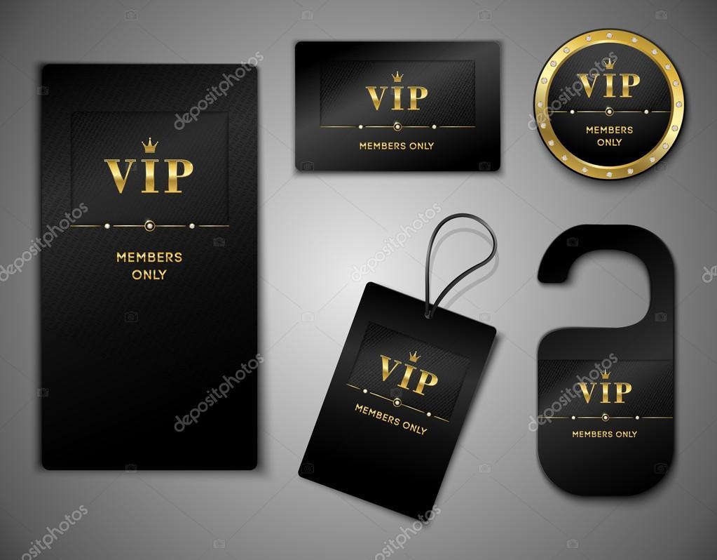 plantilla de diseño de tarjetas VIP — Archivo Imágenes Vectoriales ...