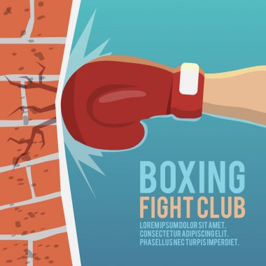 Boxer gloves hitting poster