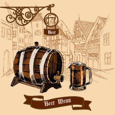 Beer bar menu sketch