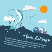 Horgászat hajóval poszter