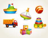 sada ikon hračky