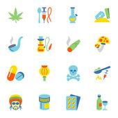 Drogy ikony plochý