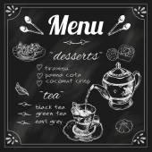 Konvice a šálek menu tabule