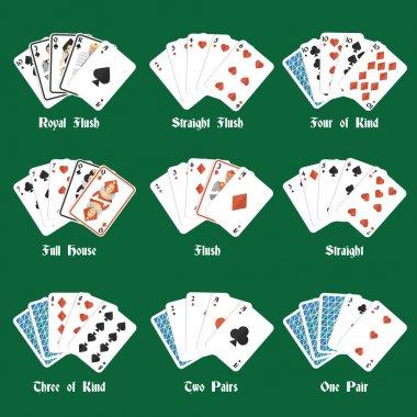 Poker hands set