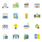 Smart Home Icons Flach