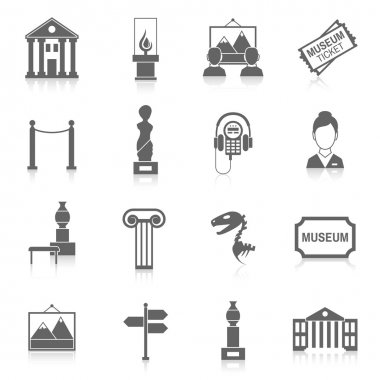 Museum icons black