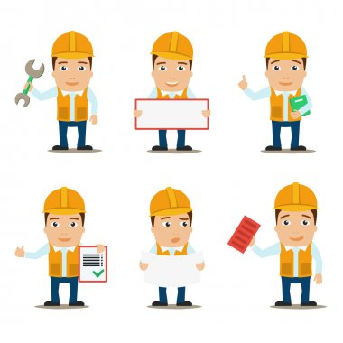 Builder characters set