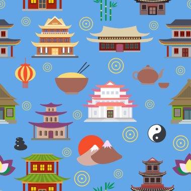 Chinese house seamless pattern