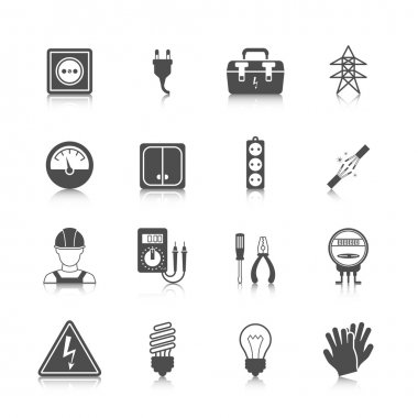 Electricity icon black