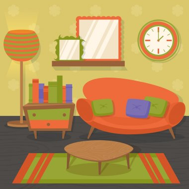 """Картина, постер, плакат, фотообои """"диван для интерьера зеркало раме зеркала круглые напольное круглое полный прованс"""", артикул 53998471"""