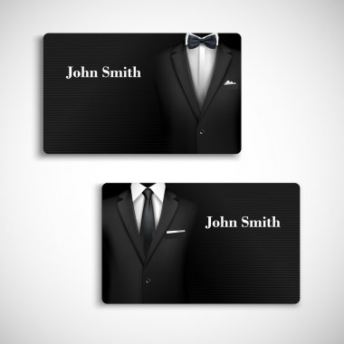 Businessman suit card set