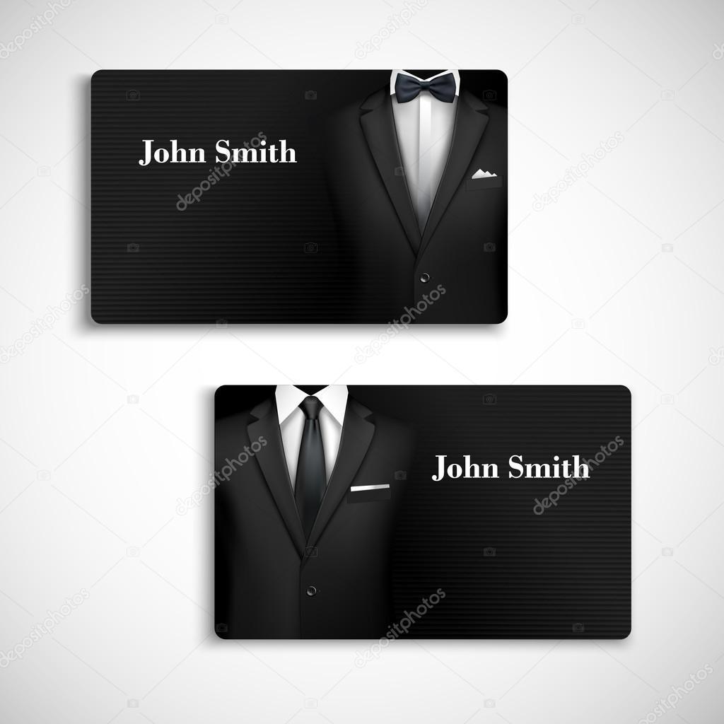 Businessman suit card set