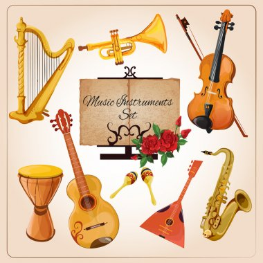 Music instruments color