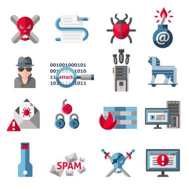 Hacker icons set