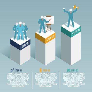 Leadership infographic set