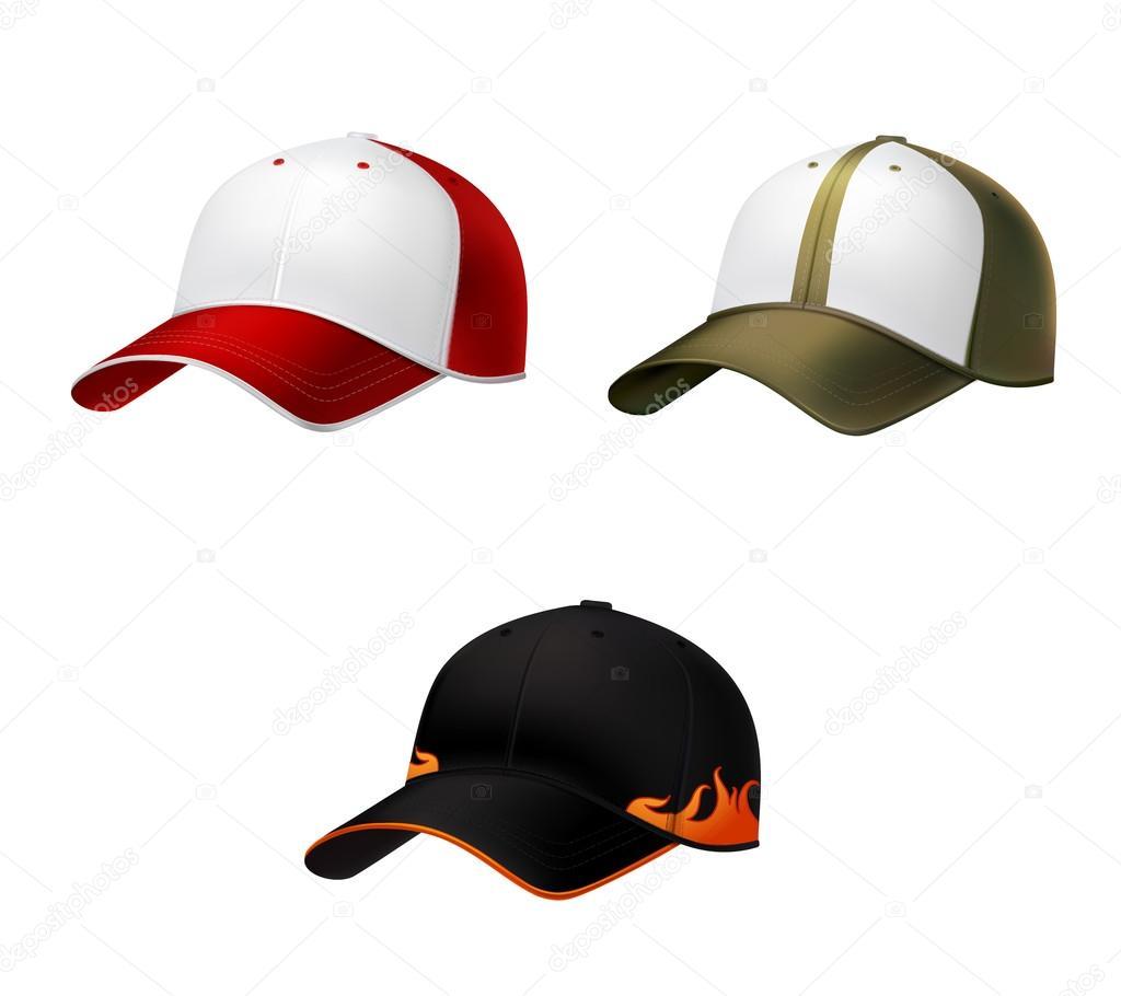 Gorra de béisbol realista — Archivo Imágenes Vectoriales ... 5b42f2c4513