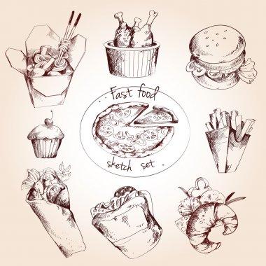 Fast food sketch set