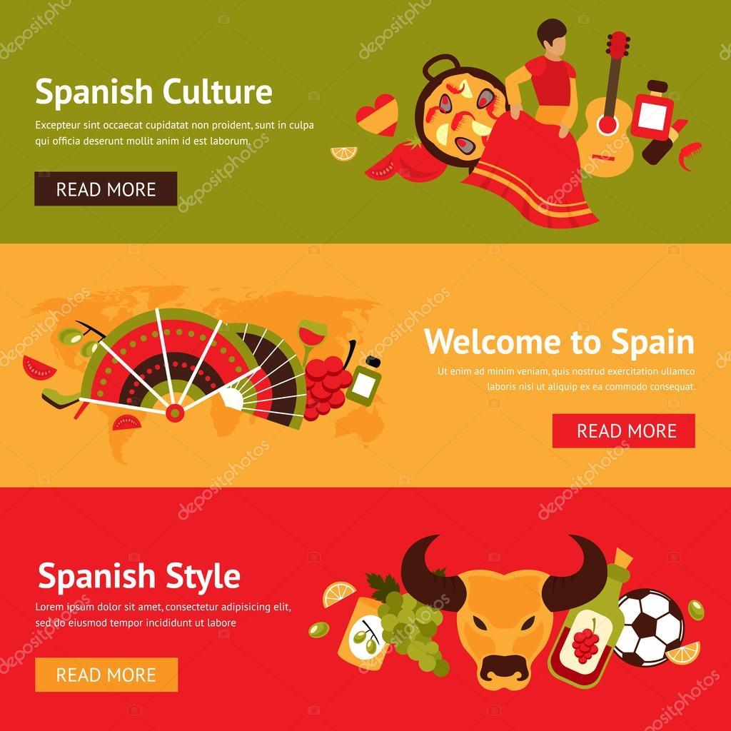 Spain banner set