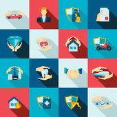 Photo Insurance icons flat