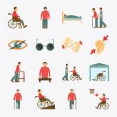 Behinderte Icons flach gesetzt