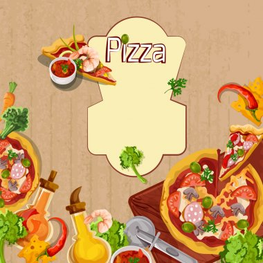 Pizza background template