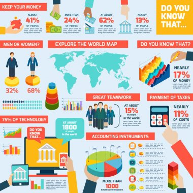 Accounting infographics set