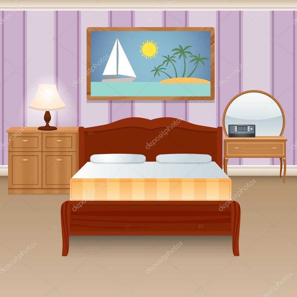 Interior Do Quarto De Cama Vetores De Stock Macrovector 59950555 ~ Posters Para Imprimir Quarto E Guarda Roupa Para Quarto
