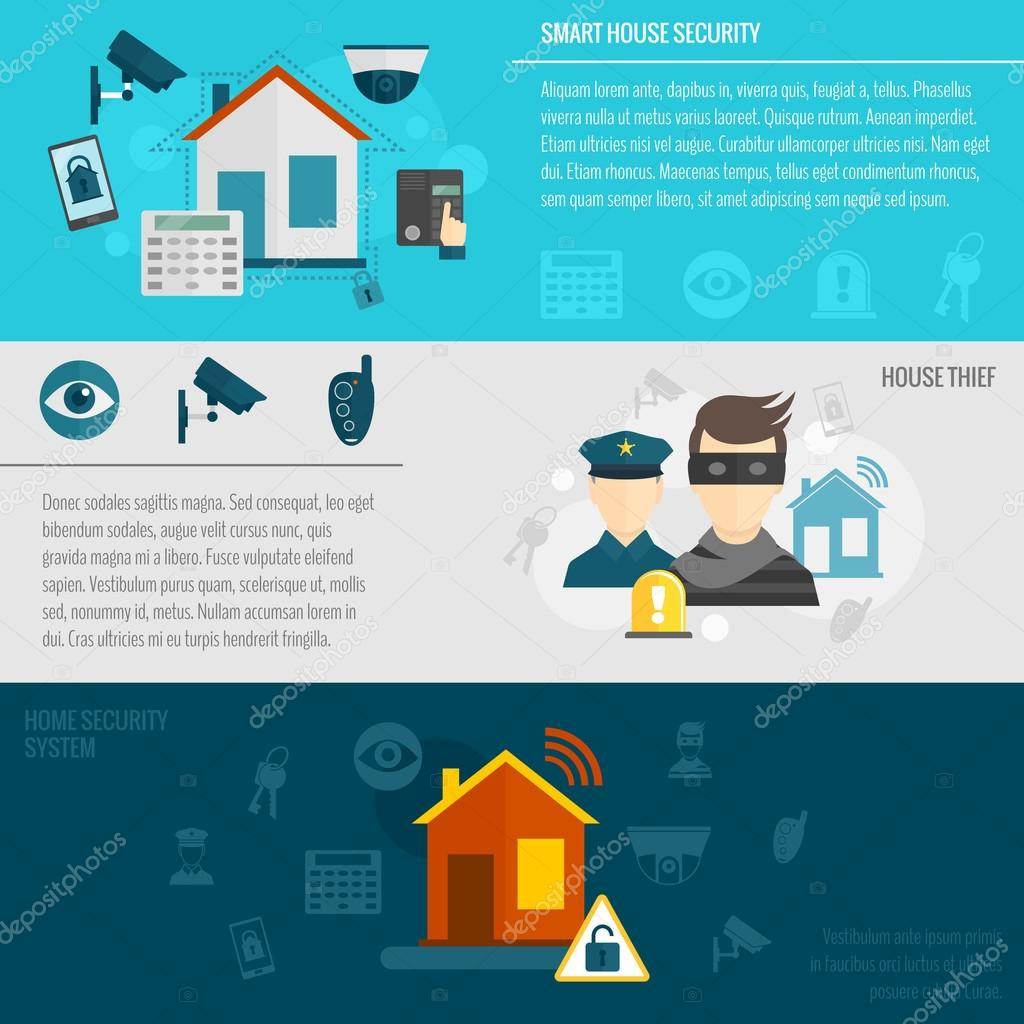 Home security banner set