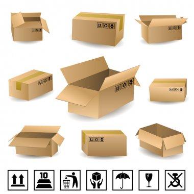 Shipping Boxes Set