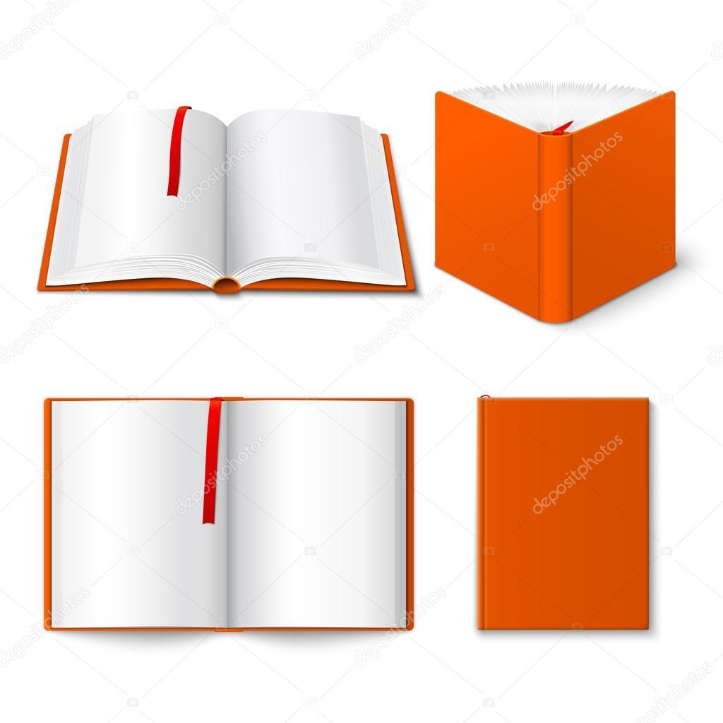 Offenes Buch Vorlagen Satz — Stockvektor © macrovector #60299757