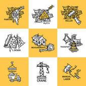 Fotografia set di icone di costruzione