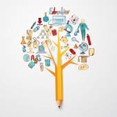 Oktatás Doodle koncepció