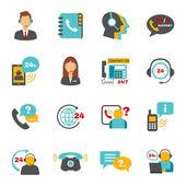 Fényképek Támogatás kapcsolat call center ikonok beállítása