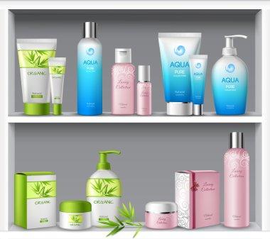 Cosmetics On Shelves