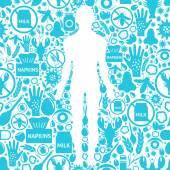 Allergie-Symptome-Hintergrund