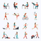 fyzické aktivity ikony