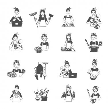 Housewife Black Set