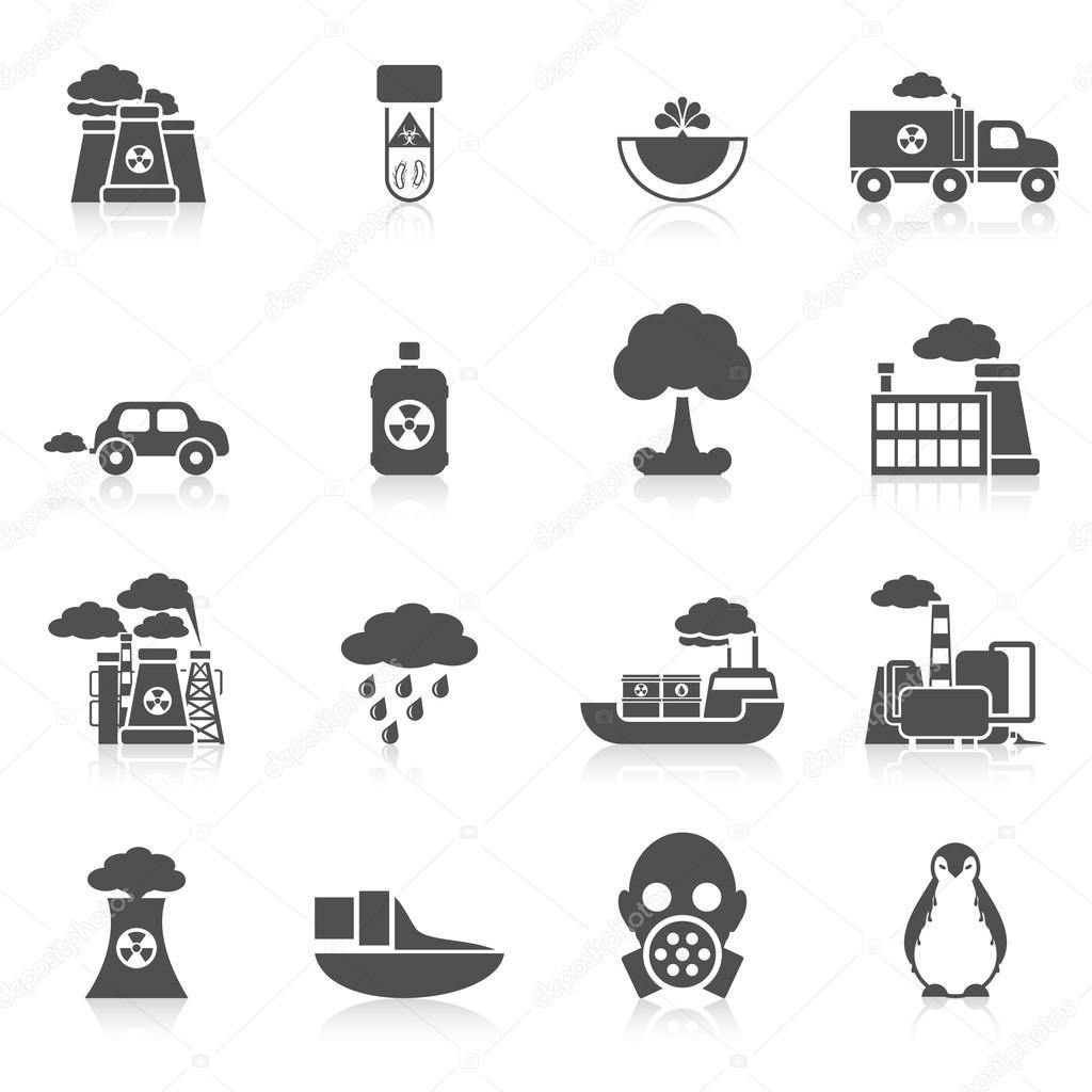 Pollution Icon Black