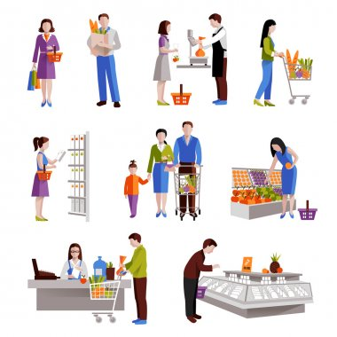 People In Supermarket