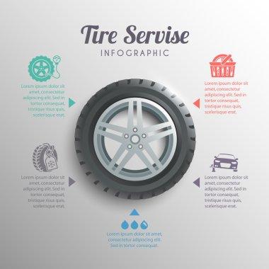Tire Service Infographics