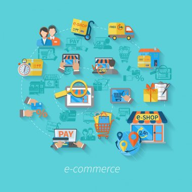 Shopping E-commerce Concept