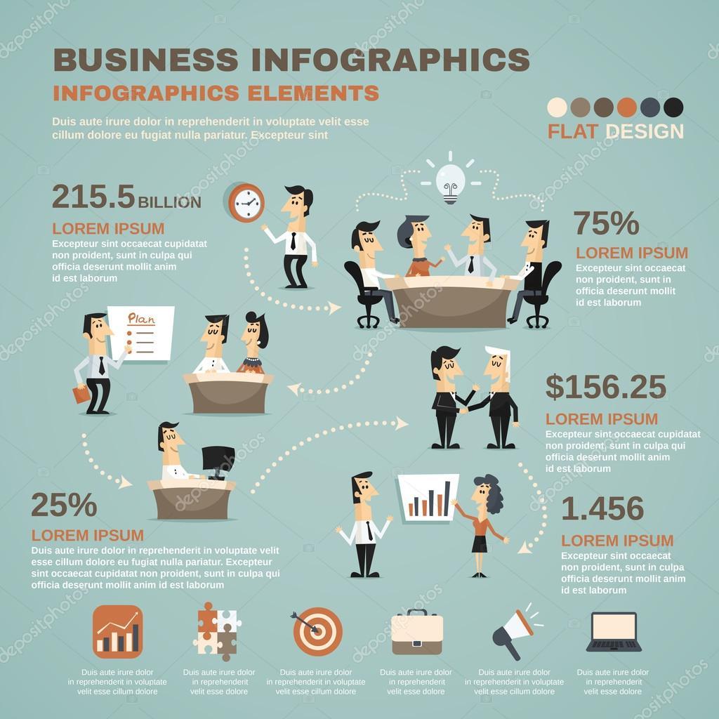 B 252 Ro Arbeit Infografiken Pr 228 Sentation Poster Stockvektor
