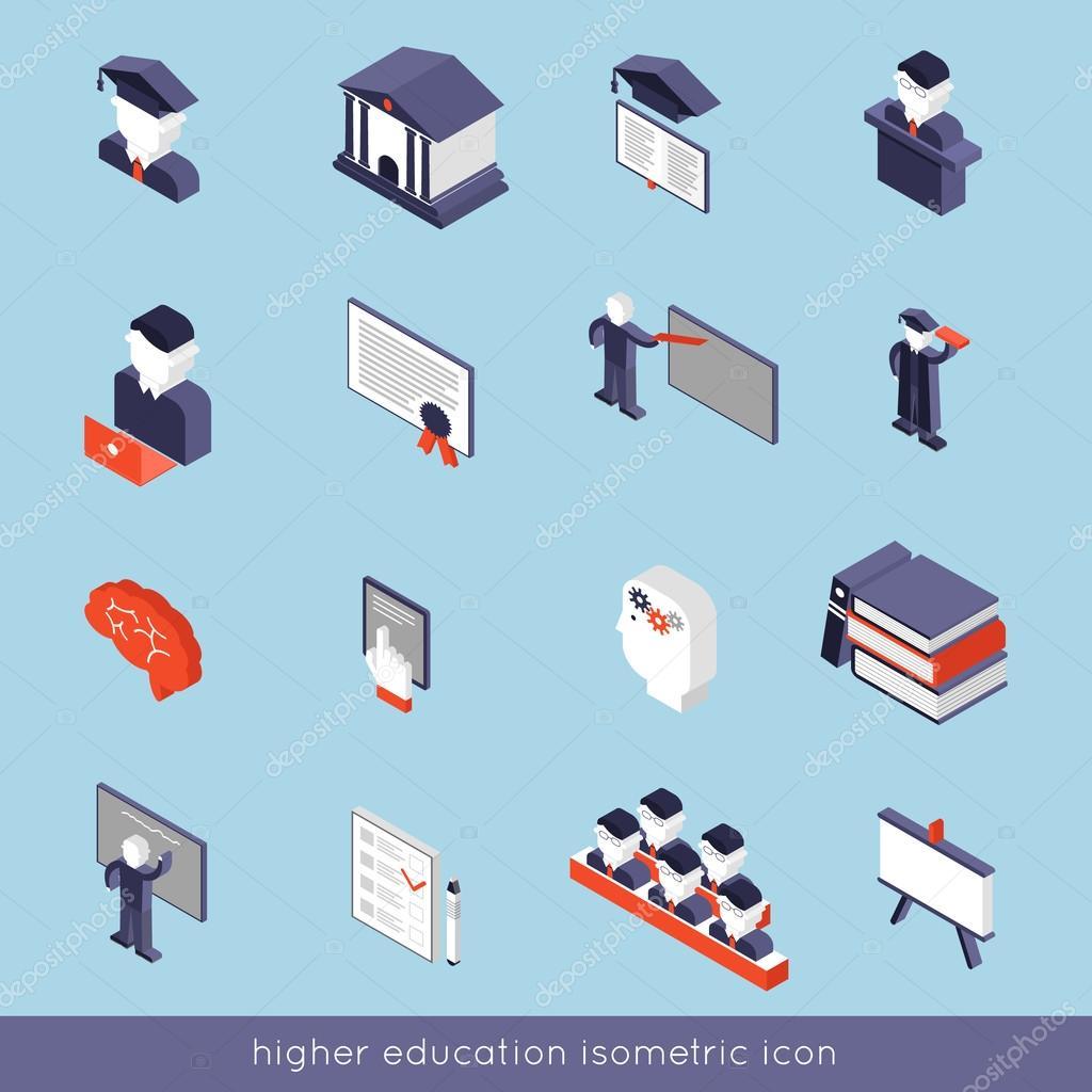 Higher Education Isometric Set