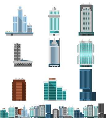 Skyscraper Offices Set