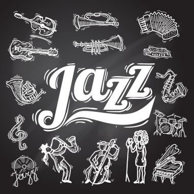 Jazz Chalkboard Set