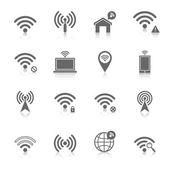Wi-Fi-Symbole gesetzt