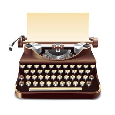 Typewriter Realistic Illustration