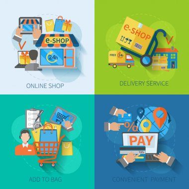 Shopping E-commerce Flat