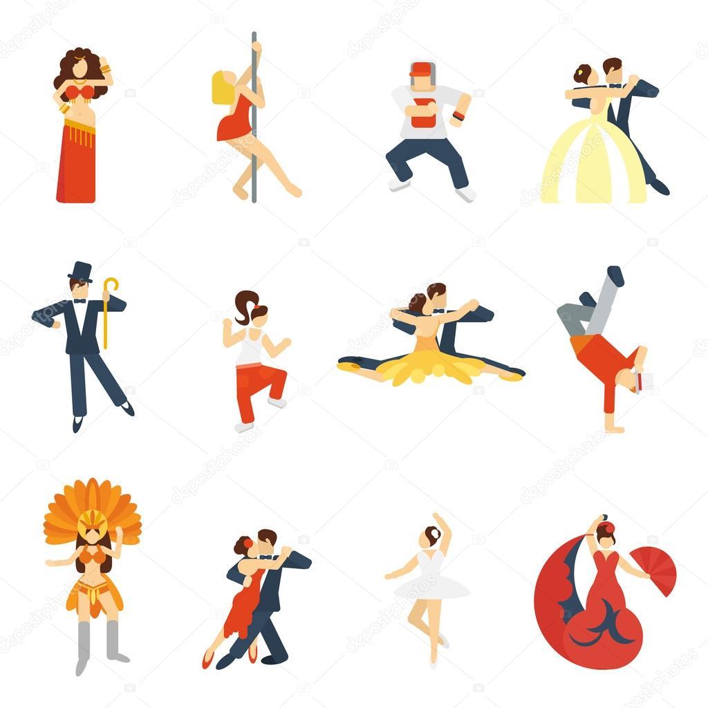 Знаком танец изобразить как