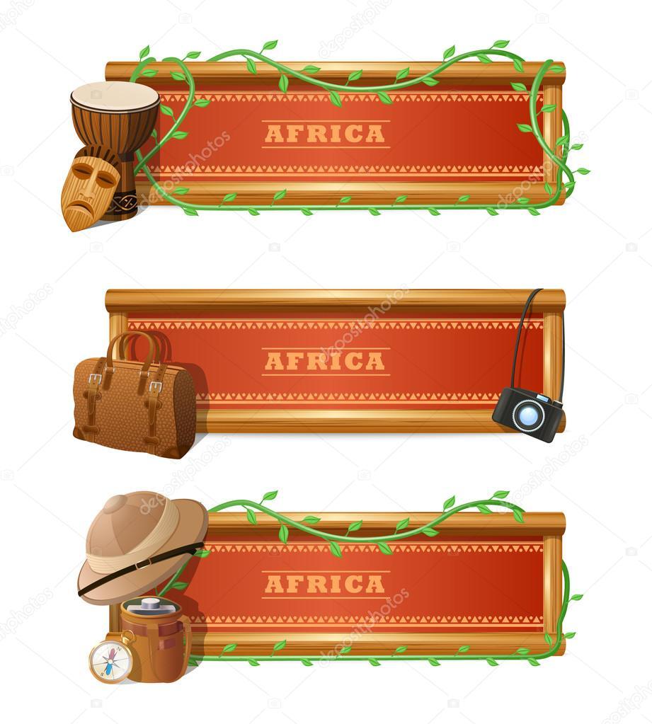 African Banner Set
